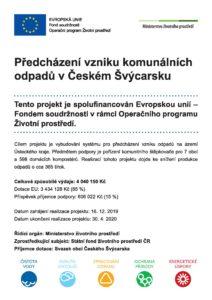 Předcházení vzniku komunálních odpadů v Českém Švýcarsku